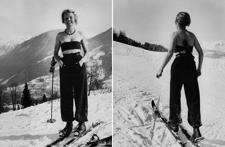 Woman Skiing, 1936.