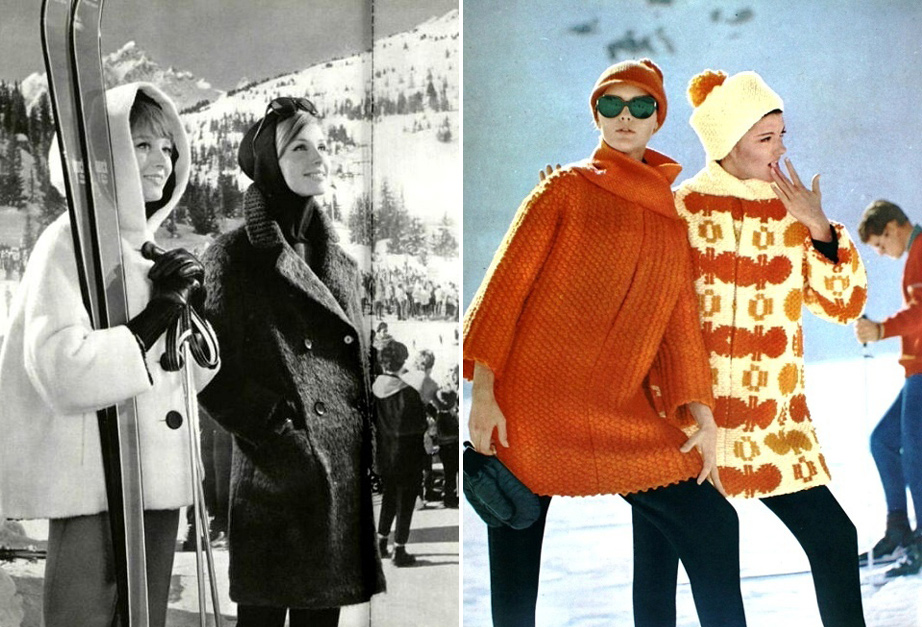 (L) L'Officiel, December 1962. (R) Pierre Cardin Outfits, 1963.