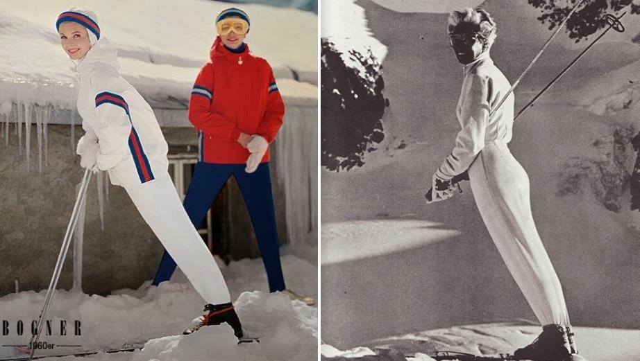 (L) Bogner, 1960s. Photo Courtesy Bogner Press Office. (R) Bogner Suit, 1960s.