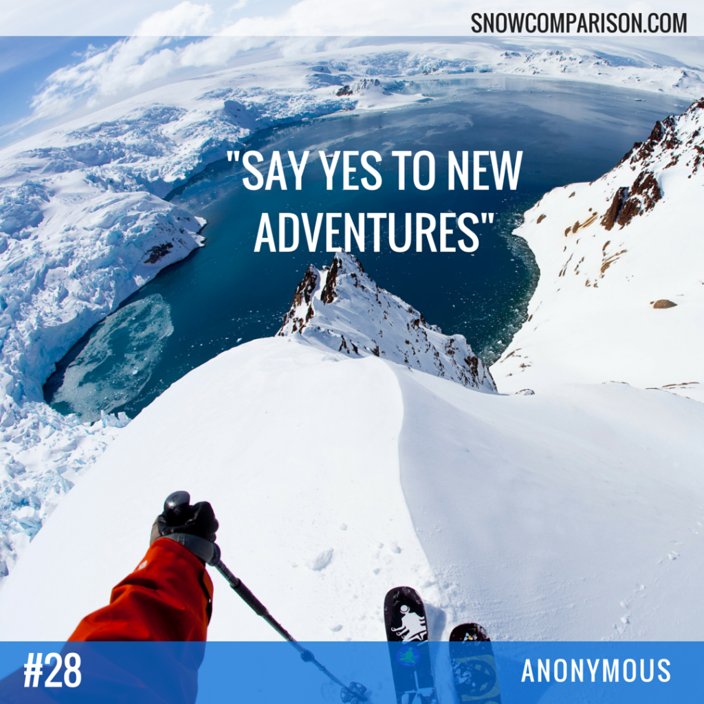 Snowcomparison.com + Inspirational Travel and Adventure Quote