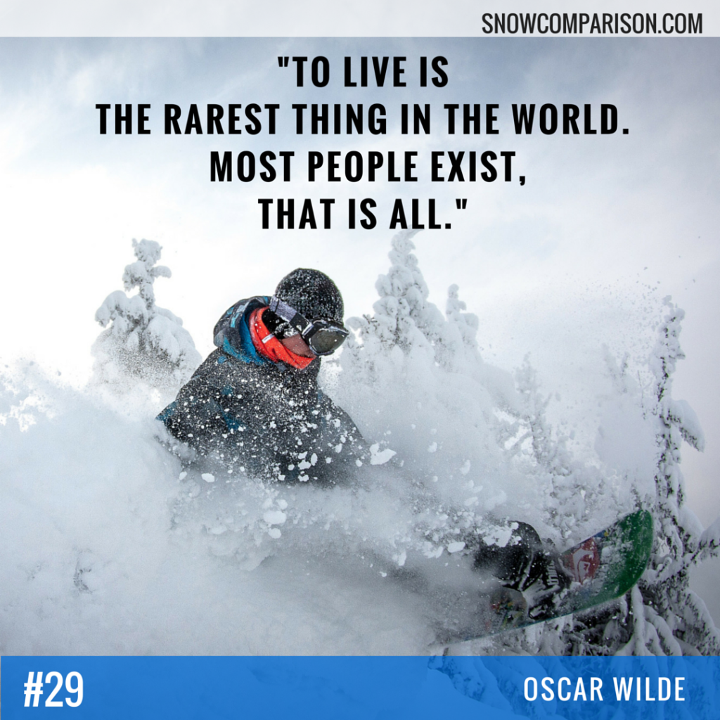 Snowcomparison.com + Inspirational Travel and Life Quote by Oscar Wilde