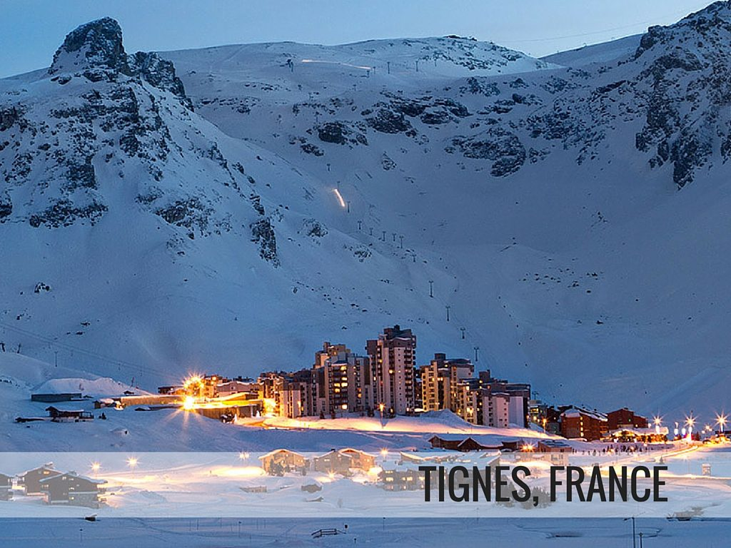 Tignes ski resort, France