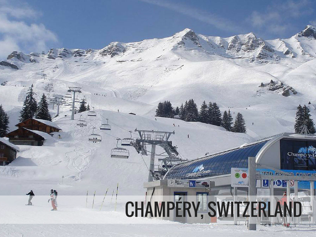 Portes du Soleil ski area -Champery Switzerland ski resort Snowcomparison.com