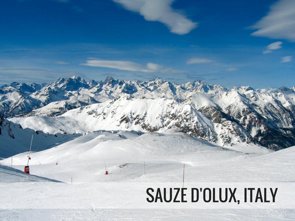 Via Lattea ski area - Sause d'Olux, Italy Snowcomparison.com