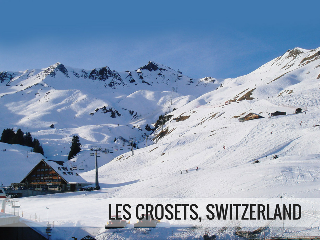 Portes du Soleil ski area - Les Crosets Switzerland ski resort snowcomparison.com