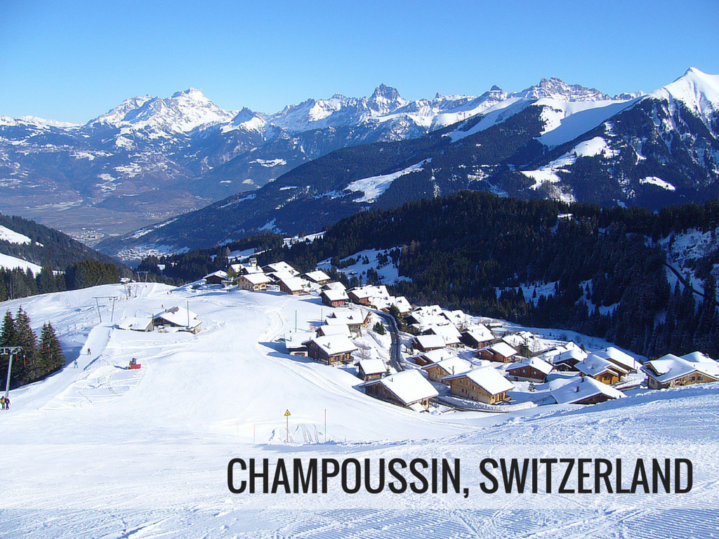 Portes du Soleil ski area - Champoussin Switzerland ski resort snowcomparison.com