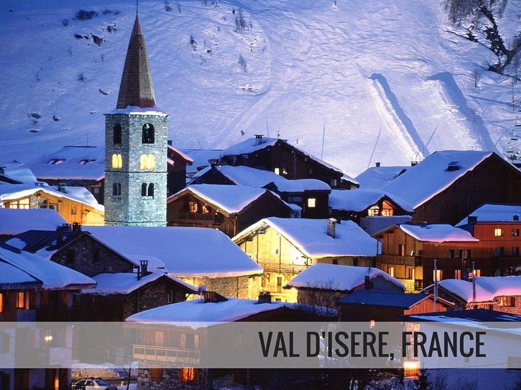 Val d'isere ski resort village