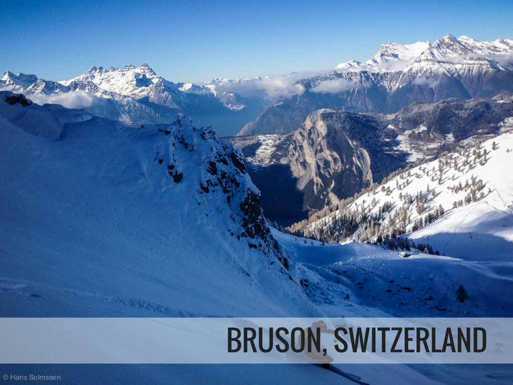 Les 4 vallees ski area - Bruson Switzerland