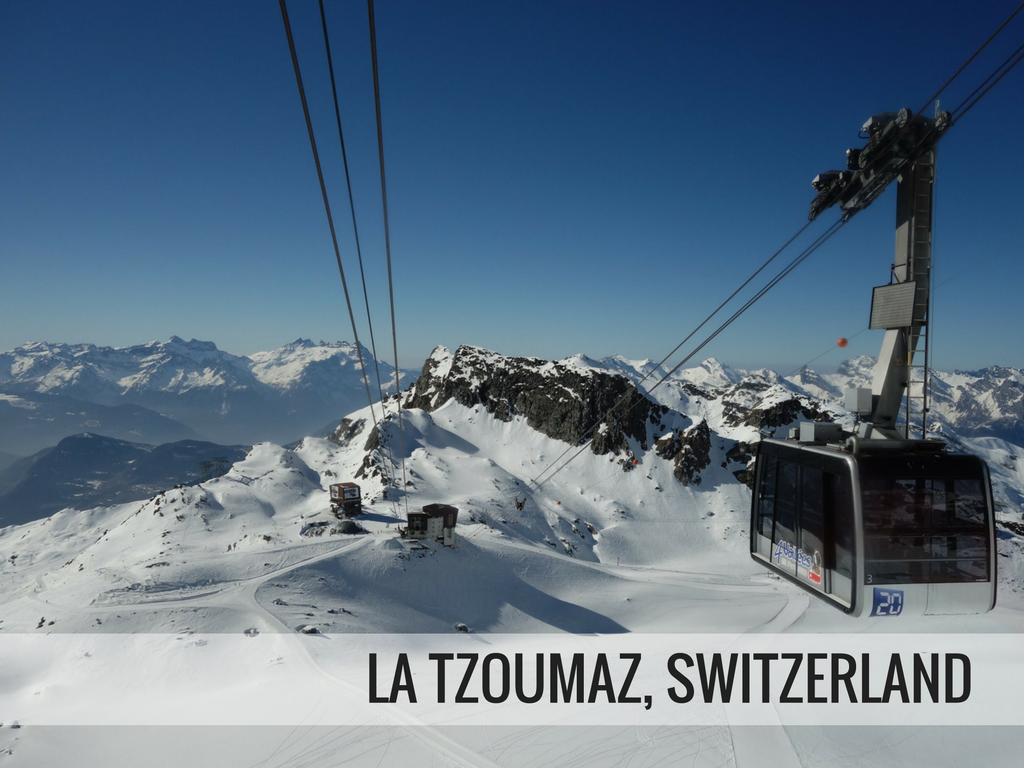 Les 4 vallees ski area - La Tzoumaz Switzerland