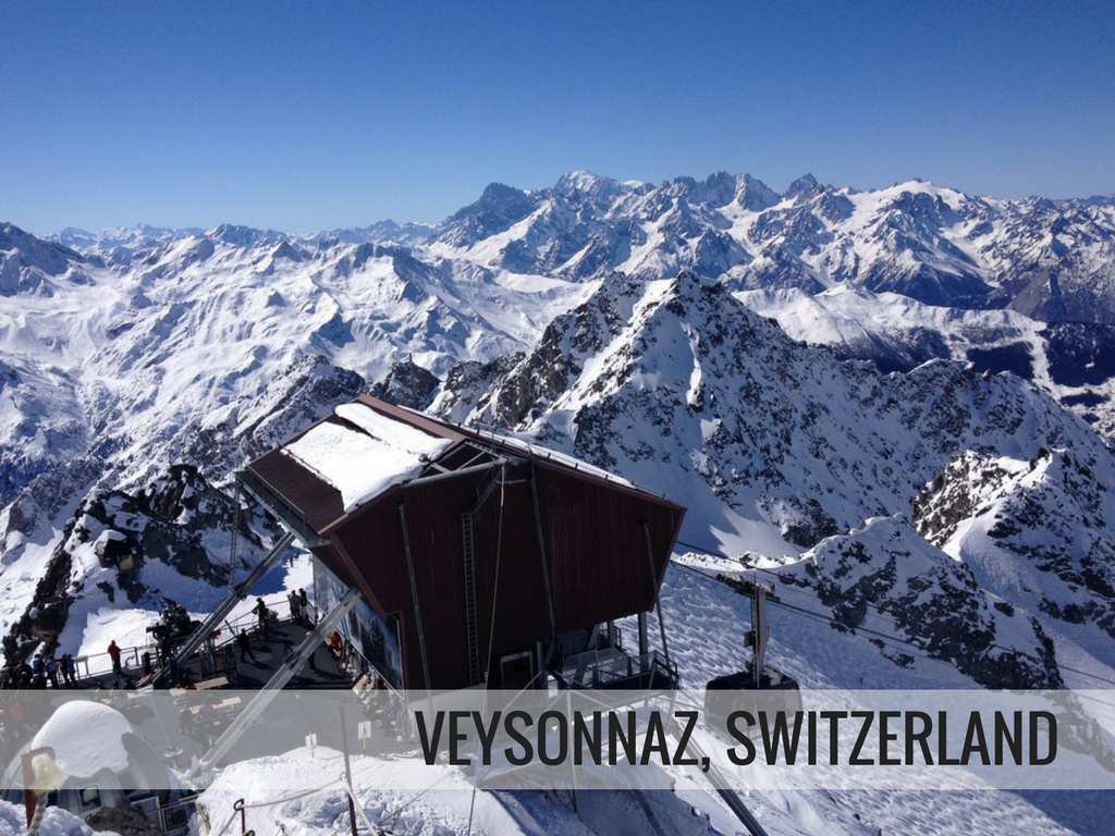 Les 4 vallees ski area - Veyzonnaz Switzerland