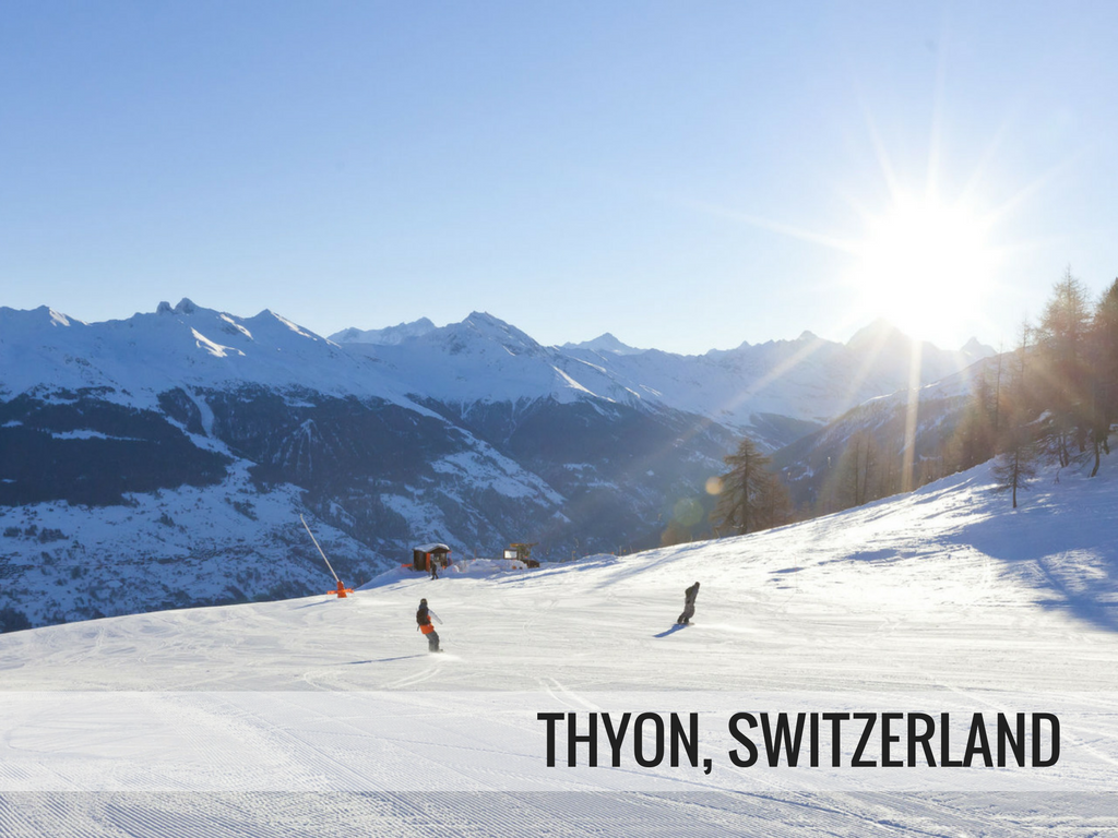 Les 4 vallees ski area - Thyon Switzerland