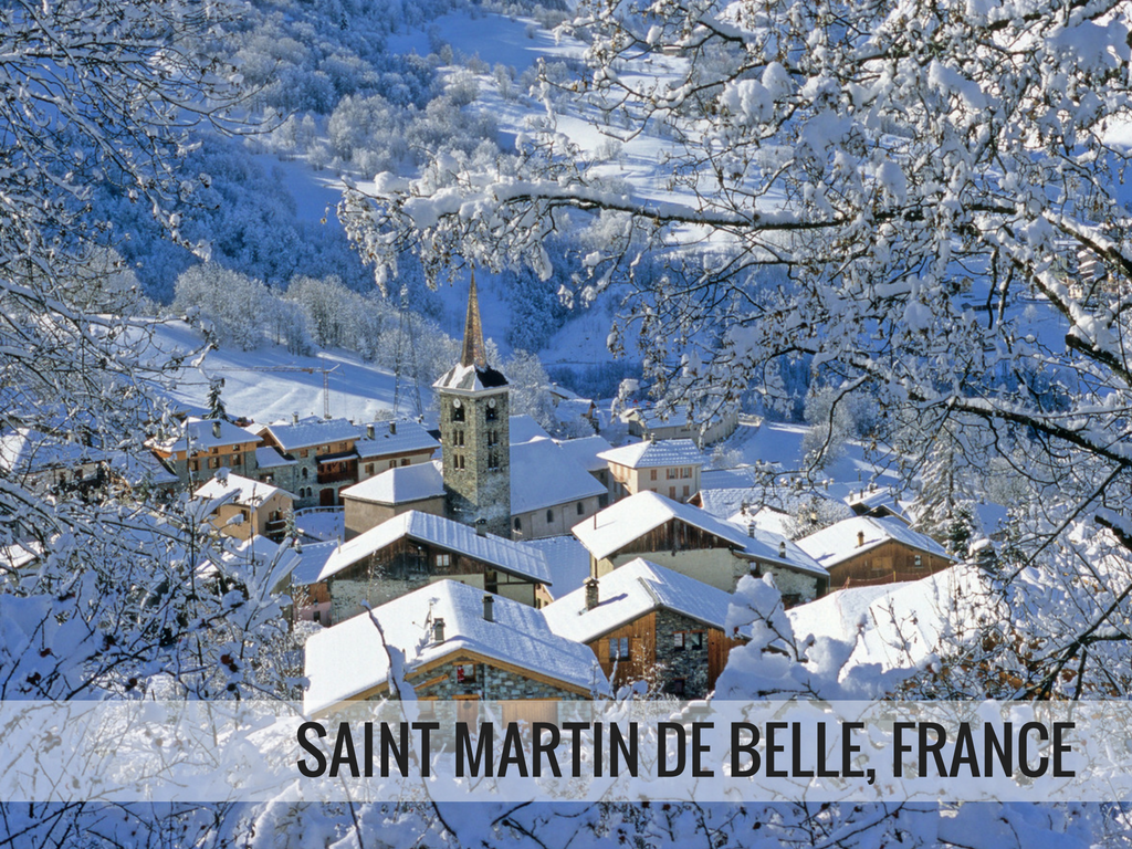 Les Trois Vallees Ski Area - Saint Martin De Belle, France