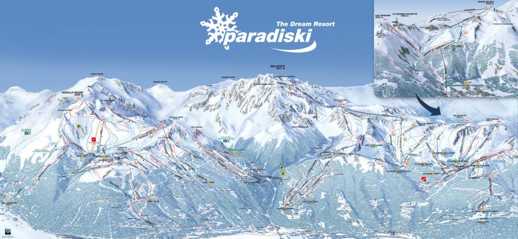 Paradiski Ski Area Map France