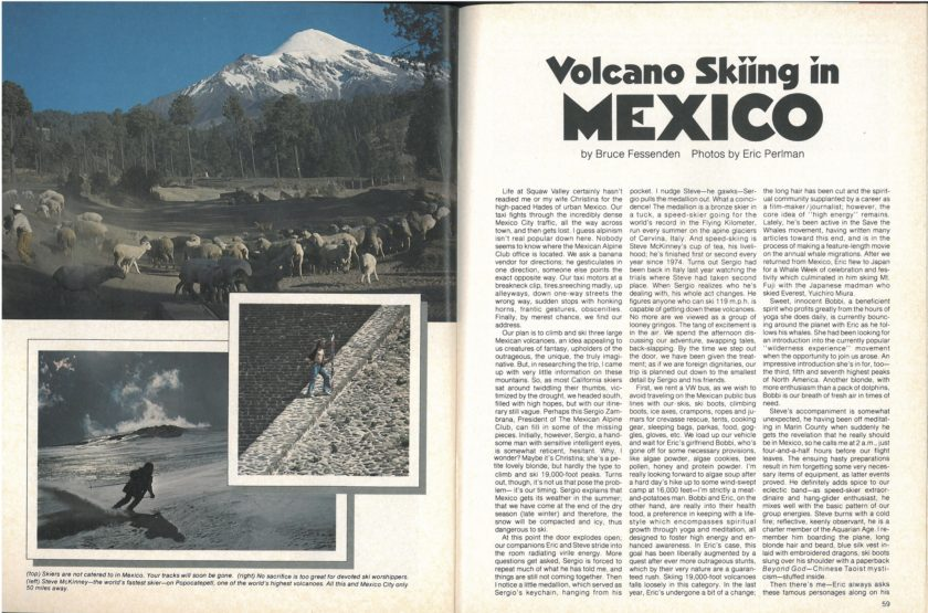 Steve McKinney and company fly south to ski Mexico's three largest volcanos