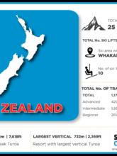 New Zealand ski resorts infographic