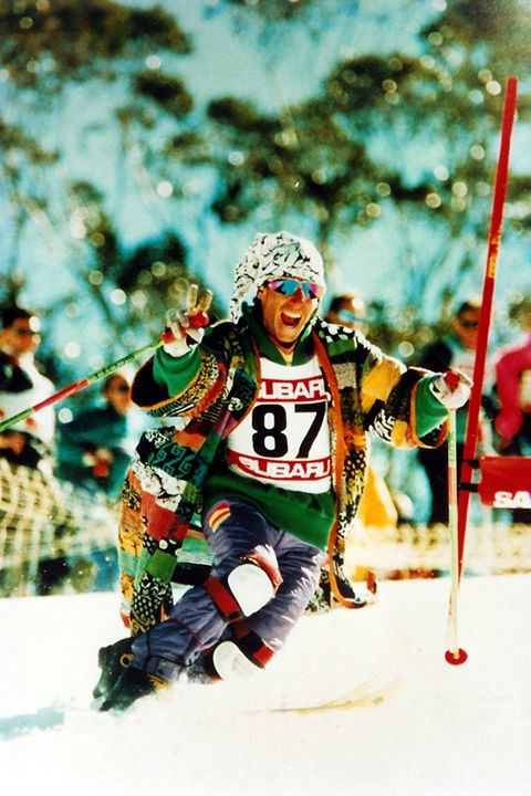 David Freuden – 1990 Telemark skiing charity event