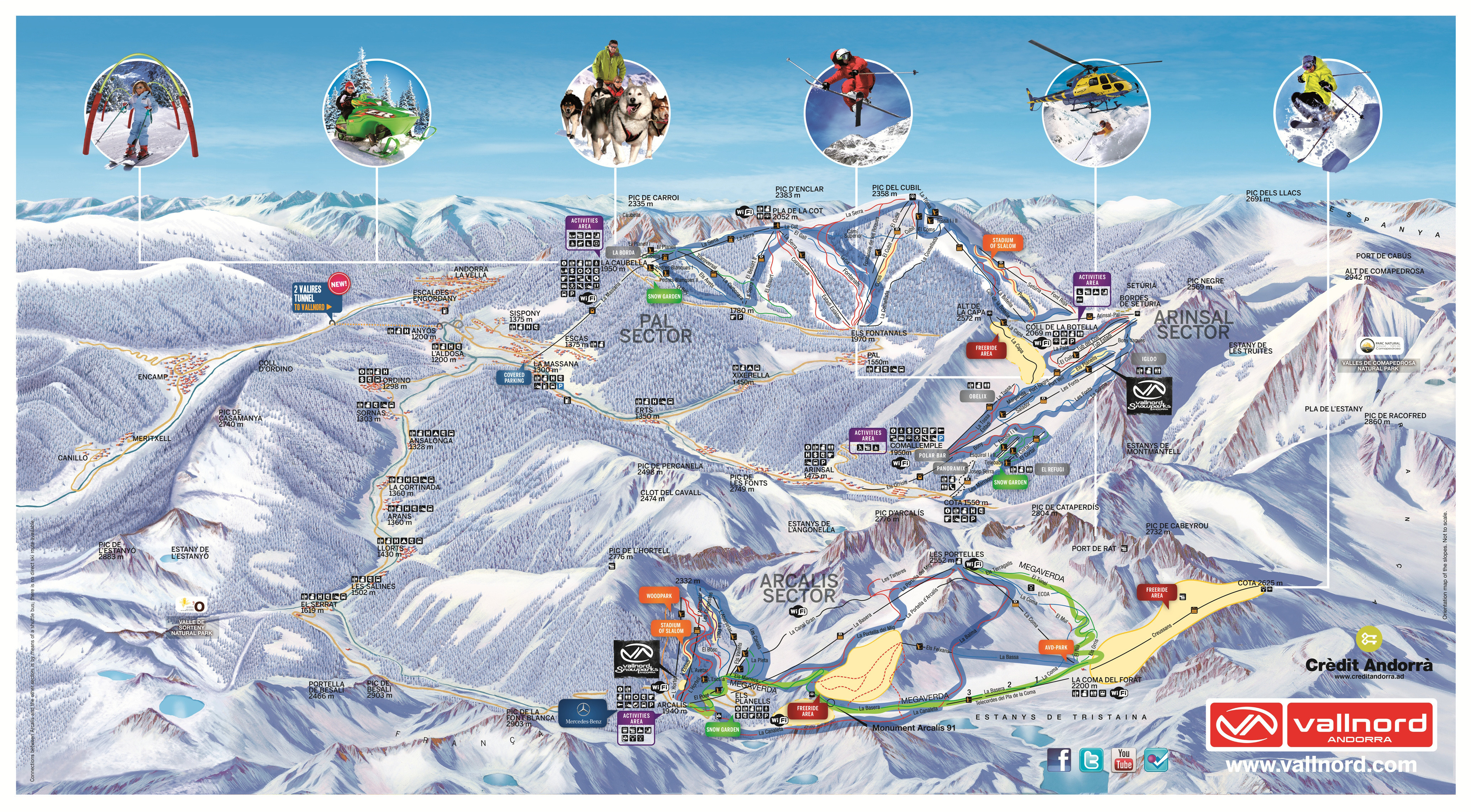 Vallnord - Arinsal and Pal sector